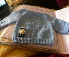 New Born Blue Raglan sweater