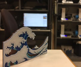 """""""The Wave"""" Painting 3D Printed"""