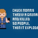 Chuck Norris and a Grenade - Cross Stitch Free PDF Pattern