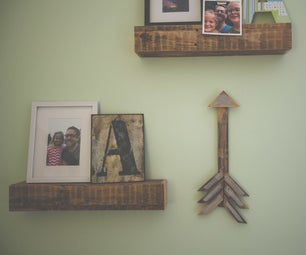 DIY Pallet Wood Arrow Art