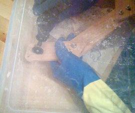 Dust-catching Glove Box