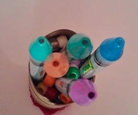 DIY makeup brush/pencil/pen/crayon/paint brush organizer