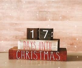 Christmas Countdown Blocks