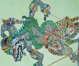 How to Make Colorful WAYANG From  Cardboard