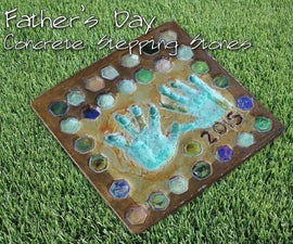 Father's Day Concrete Stepping Stones