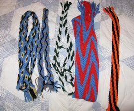 Weaving a belt or bookmark