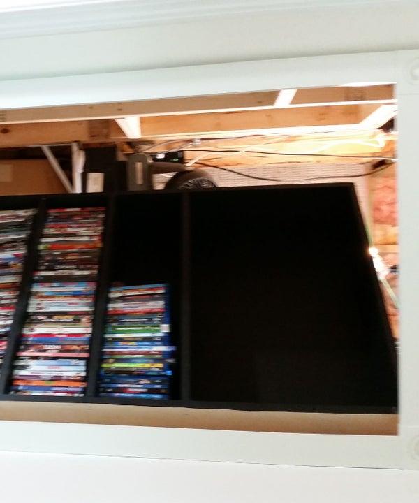 Secret DVD/Bookcase Door