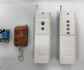 How to Pair Between RF Transmitter Remote Kit With RF Receiver Control Kit