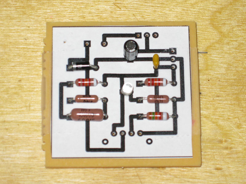 Picture of Placing Capacitors, LED, and Diode