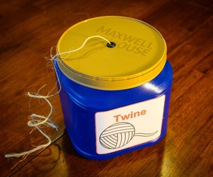 Coffee Container Twine Holder
