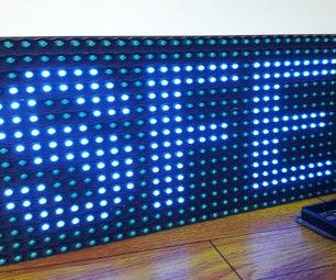 Display Text at P10 LED Display Using Arduino