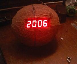 Home made 7 segment display clock