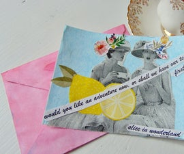 Quirky English Tea Party Invitations and Watercolour Envelopes