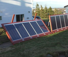 Ground Mounted Solar Panels With Adjustable Angles