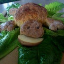 Sweet orange turtle bread