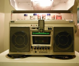 Make a cool ipod base for your boombox out of a cassette tape....Cheap!