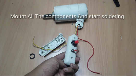 Mount the Components on the Handle of the Hairdryer & Start Soldering!