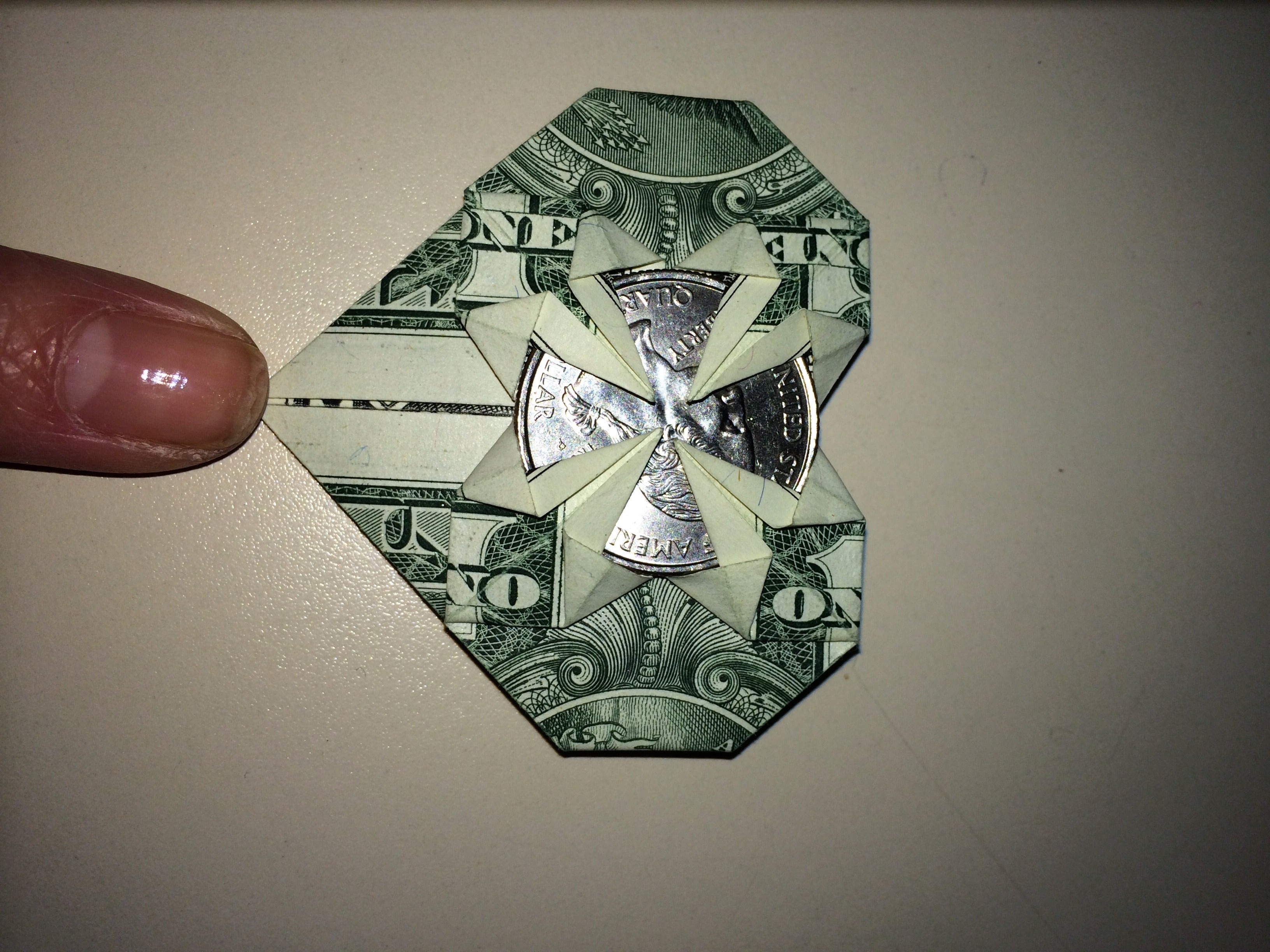 Decorative Money Origami Heart: Video Tutorial and Picture ... | 2448x3264
