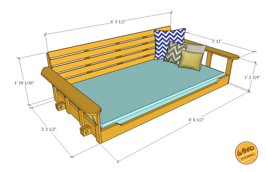 Porch Bed Swing Relaxing Times Ahead 19 Steps With Pictures Instructables