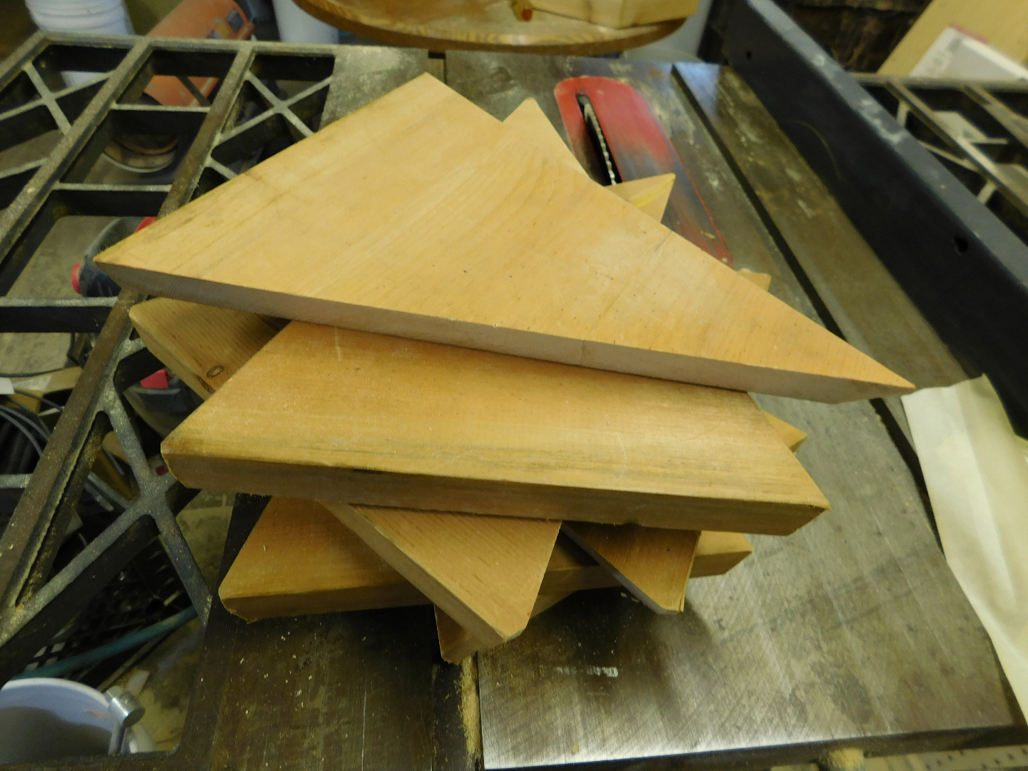 Picture of Biscuit Joinery for the Hex Roof