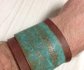 Tengwar (Elvish) Copper Cuff with a Patina