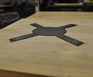 Plasma Cut Steel Ties for Wood Joinery