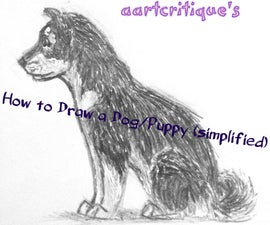 How To Draw A Dog/Puppy (simplified)