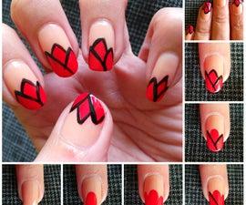 Tulips Nail Art Design