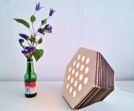 Plywood Hexagon Lamp