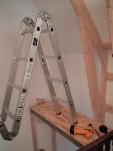 Building a Climbing Wall at the Top of the Stairs