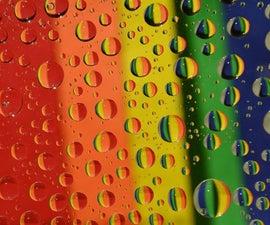Rainbow Water Drops Photo