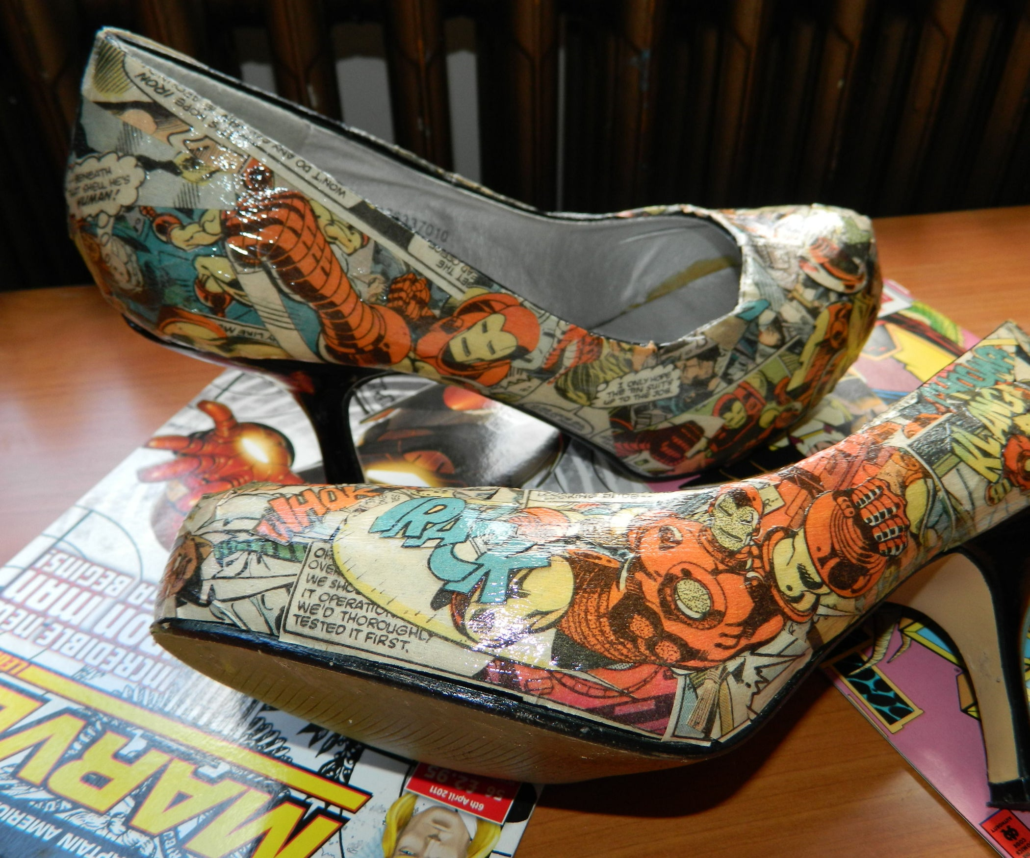 8dec4e5eba07 Comic Book Shoes  5 Steps (with Pictures)
