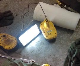 Work Light From Broken Drill