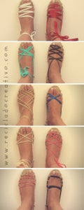With Different Strings and Different Ways of Crossing Them on the Eyelets, You Can Have More Than 20 Sandals