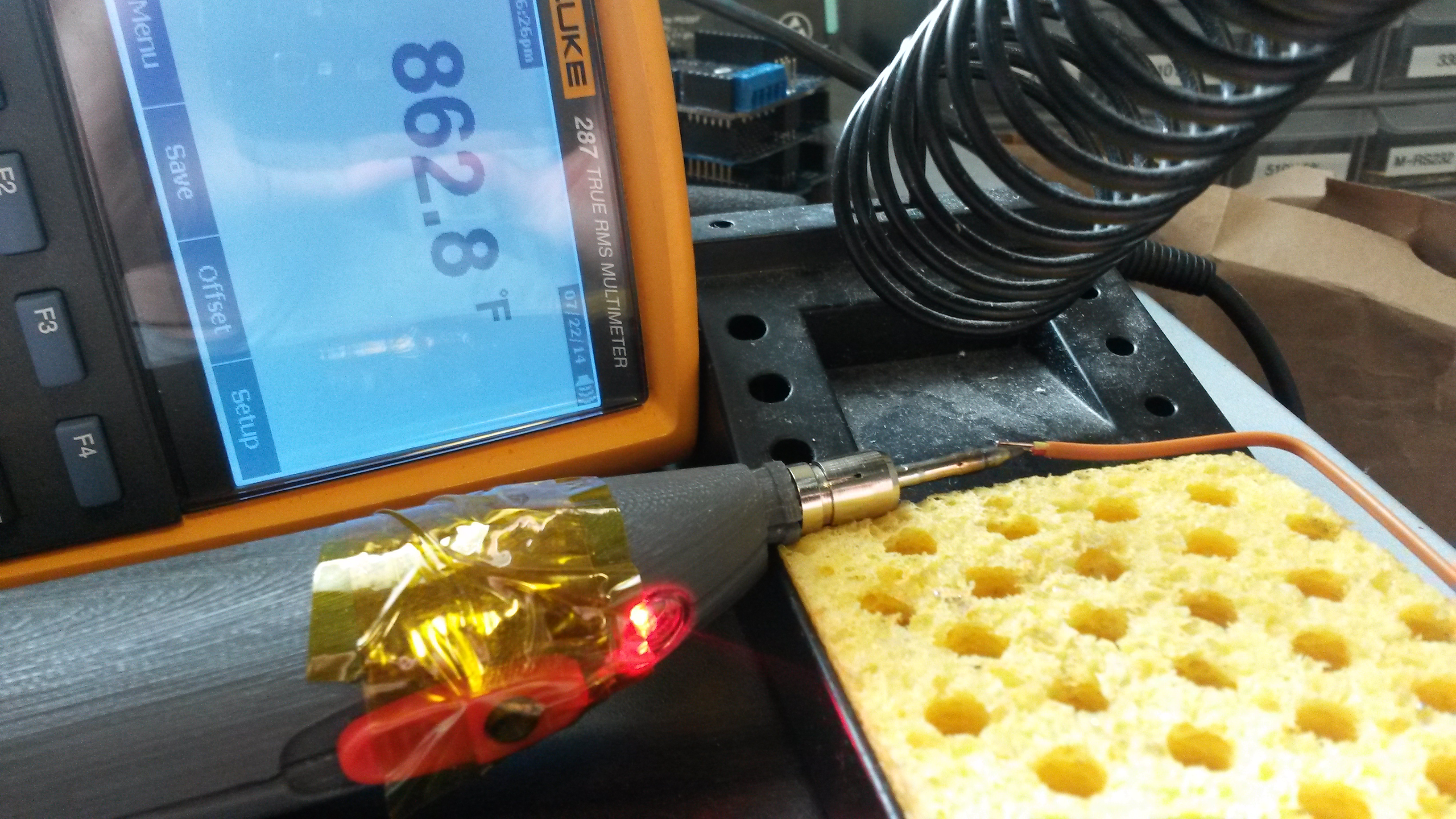 Picture of USB Rechargeable Soldering Iron: Solderdoodle Pro