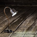 Cute little desklamp made from scrap Fullmetal, Steampunk