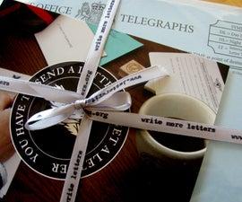 Custom Printed Ribbon Using a Typewriter