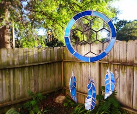 Stained Glass Blue Suncatcher