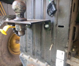 Riding Mower Trailer Hitch for $5