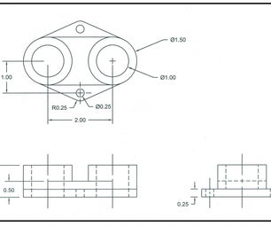 Drawing a Multiview Print (basic Drafting)