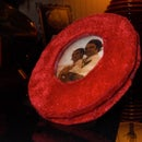 """Recycled curved """"glass"""" picture frame"""