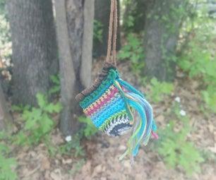 Crochet Pouch Necklace