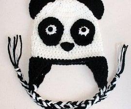 Panda Bear Earflap Hat