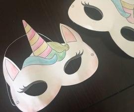 Watercolor Unicorn Mask + Free Printable