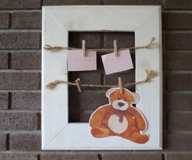 Old Fashioned Style Clothespin Frame