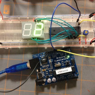 Arduino With MM5451 LED Display Driver
