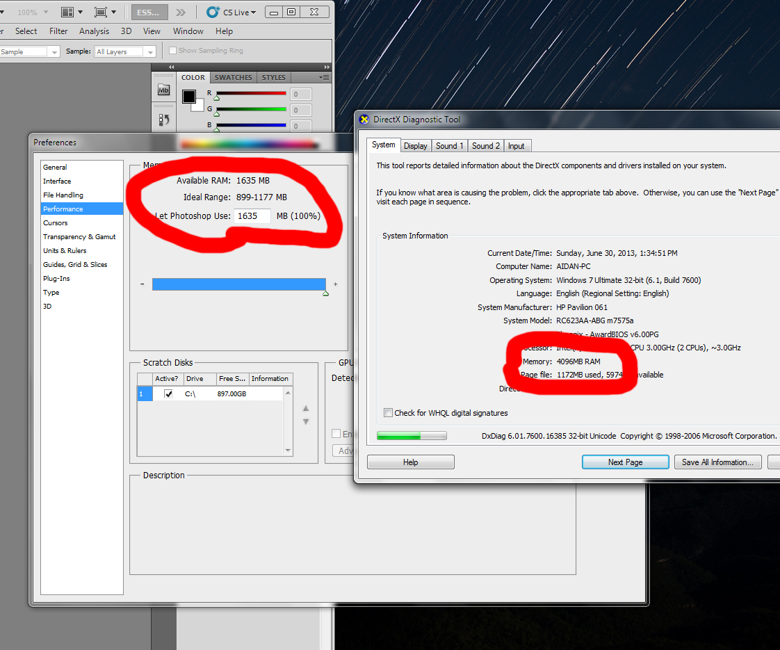 Picture of Photoshop not using all RAM?