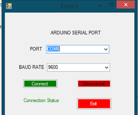 Making Arduino serial port with visual basic