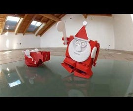 3D Printed Boxing Santa Biped Robot With LOLIN D32 Board and Smartphone App Using BLE With Arduino IDE
