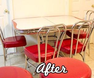 Refinish Retro Vinyl Kitchen Chairs